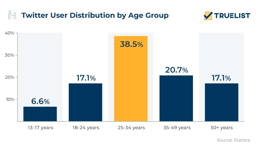 Twitter User Distribution by Age Group
